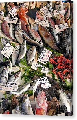 Ischia Fish Market Canvas Print