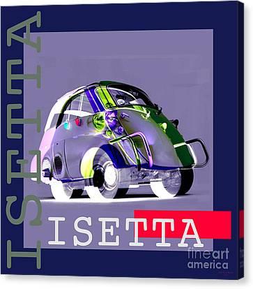 Isetta Canvas Print by Jean luc Comperat