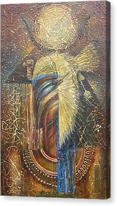 Isis. Egiptian Goddess Canvas Print by Valentina Kondrashova