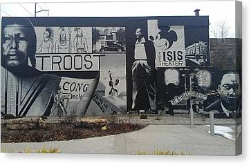 Isis Theater 3102 Troost Ave Kansas City Mo Side Of The Building Tribute Canvas Print by Sonya Wilson