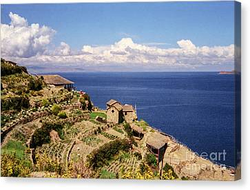 Canvas Print featuring the photograph Isla Del Sol by Suzanne Luft
