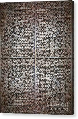 Islamic Wooden Texture Canvas Print by Antony McAulay