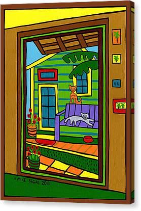 Island Arts Garden - Cedar Key Canvas Print