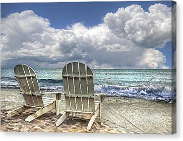 Island Attitude Canvas Print by Debra and Dave Vanderlaan