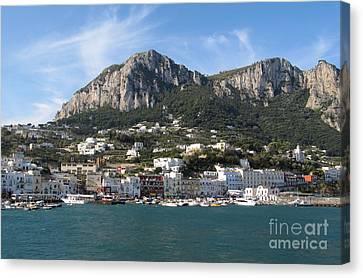 Island Capri Panoramic Sea View Canvas Print by Kiril Stanchev