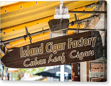 Island Cigar Factory Key West  Canvas Print