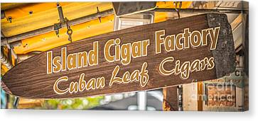 Island Cigar Factory Key West - Panoramic - Hdr Style Canvas Print