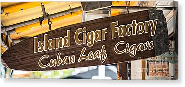 Island Cigar Factory Key West - Panoramic  Canvas Print by Ian Monk