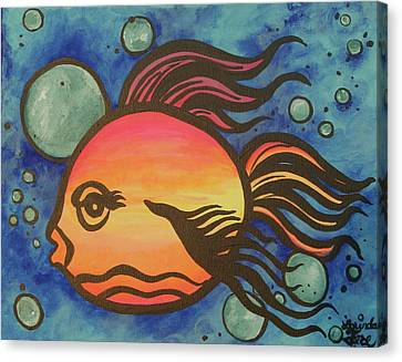 Island Fish Canvas Print by Lorinda Fore