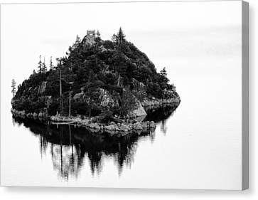 Island In A Lake Canvas Print by Celso Diniz