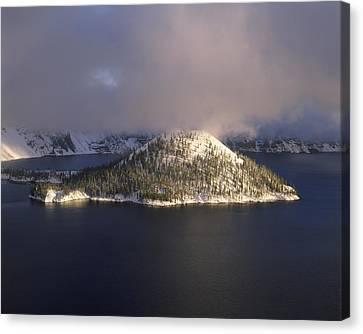 Island In A Lake, Wizard Island, Crater Canvas Print by Panoramic Images