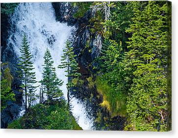 Island In The Cascade Canvas Print by Adam Pender