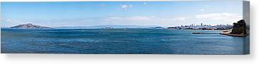 Island In The Ocean, Angel Island Canvas Print by Panoramic Images