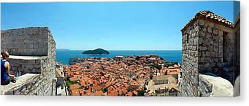 Island In The Sea, Adriatic Sea, Lokrum Canvas Print