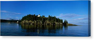 Island In The Sea, Bear Island Canvas Print by Panoramic Images