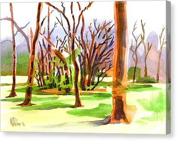 Island In The Wood Canvas Print by Kip DeVore