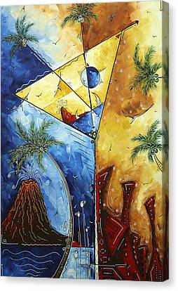 Island Martini  Original Madart Painting Canvas Print by Megan Duncanson