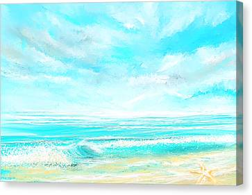 Island Memories - Seascapes Abstract Art Canvas Print