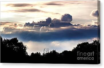 Island Of Clouds Canvas Print by Daniel Heine