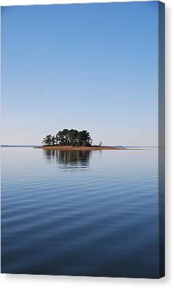 Island On Lake Sam Rayburn Canvas Print