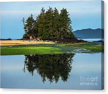 Island Reflection Canvas Print by Robert Bales