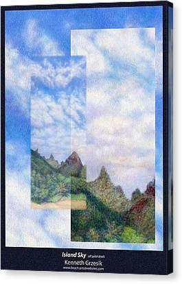 Island Sky Details Canvas Print by Kenneth Grzesik