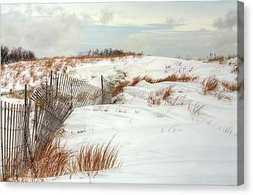 Island Snow Canvas Print by JC Findley