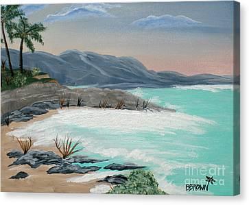 Island Solitude Canvas Print by Brenda Brown