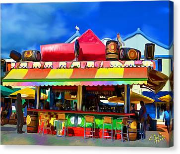 Island Stand Canvas Print by Gerry Robins