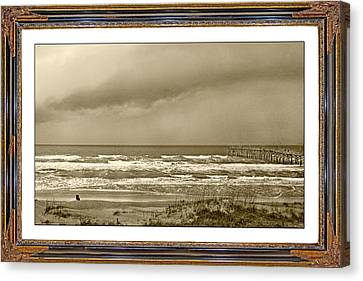 Beach Chair Canvas Print - Island Storm by Betsy Knapp