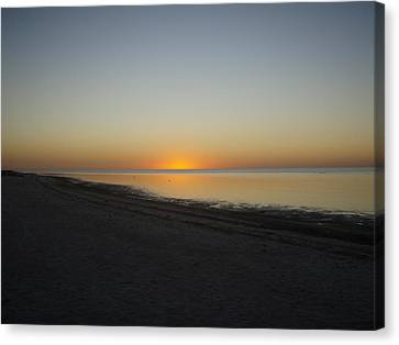 Canvas Print featuring the photograph Island Sunset by Robert Nickologianis