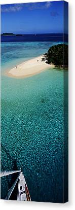 Tonga Canvas Print - Island With Boat Tonga South Pacific by Panoramic Images