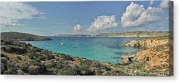 Clouds Over Sea Canvas Print - Islands In The Sea, Blue Lagoon by Panoramic Images