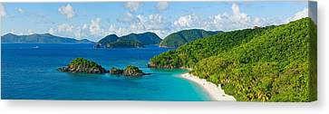 Islands In The Sea, Trunk Bay, St Canvas Print by Panoramic Images
