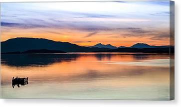 Sunset Isle Of Jura Scotland Canvas Print