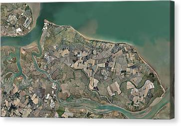 Isle Of Sheppey, Uk, Aerial View Canvas Print by Science Photo Library
