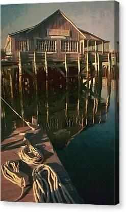 Islesford Dock Canvas Print by Jeff Kolker