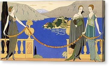 Isola Bella Canvas Print by Georges Barbier