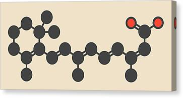 Defects Canvas Print - Isotretinoin Acne Treatment Drug Molecule by Molekuul