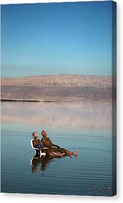 Israel, Dead Sea Canvas Print by David Noyes
