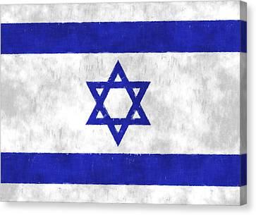 Israel Flag Canvas Print