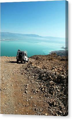 Israel, Judean Desert, Dead Sea Canvas Print by David Noyes
