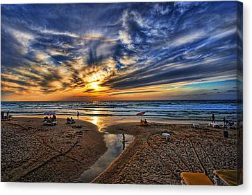 Canvas Print featuring the photograph Israel Sweet Child In Time by Ron Shoshani