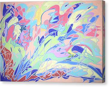 Canvas Print featuring the painting Israel Synchromy by Esther Newman-Cohen