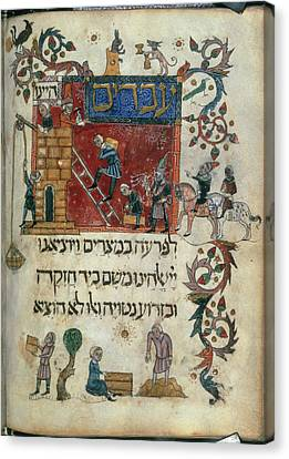 Israelites Building The Cities Canvas Print by British Library