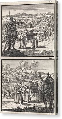 Israelites Over Jordan Fall Of Jericho Biblical Canvas Print