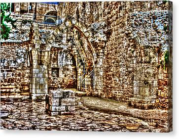 Canvas Print featuring the photograph Israels Ruins by Doc Braham