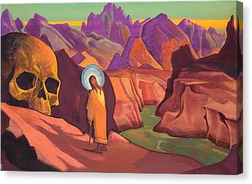 Issa And The Skull Of The Giant Canvas Print by Nicholas Roerich
