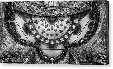 Cupola Canvas Print - Istanbul - Roof Art by Michael Jurek