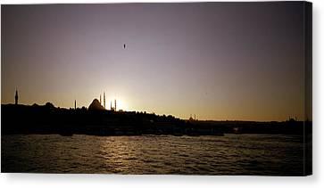 Istanbul Sunset Canvas Print by Shaun Higson
